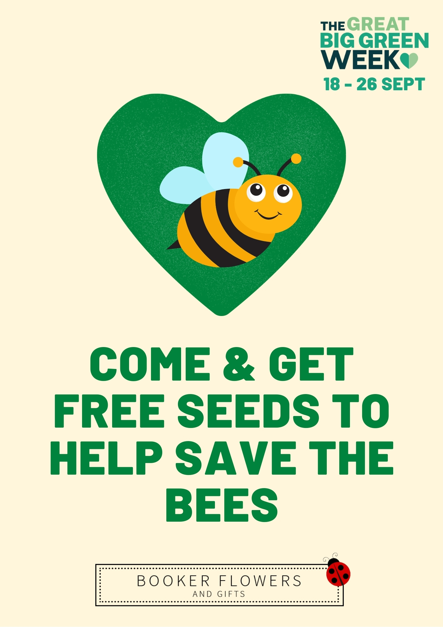 Save the bees - collect your seed bombs from Booker Avenue