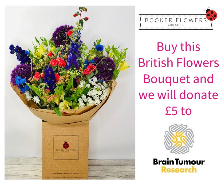 British Flowers Charity Bouquet to support Brain Tumour Research