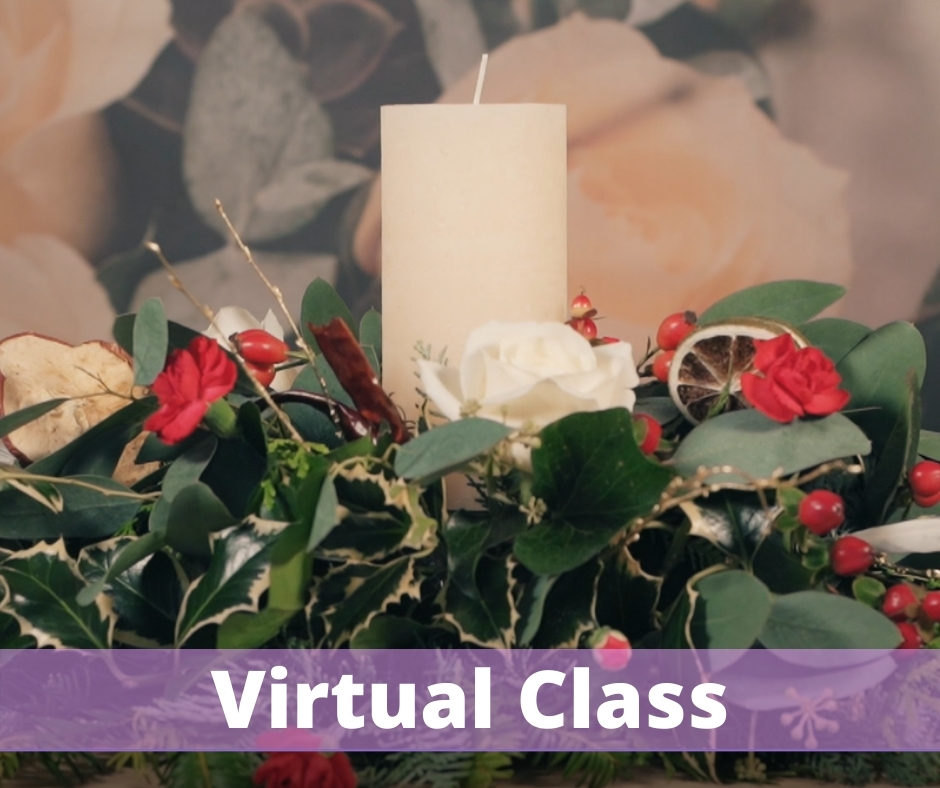 Christmas Table Arrangement Virtual Class December 2020