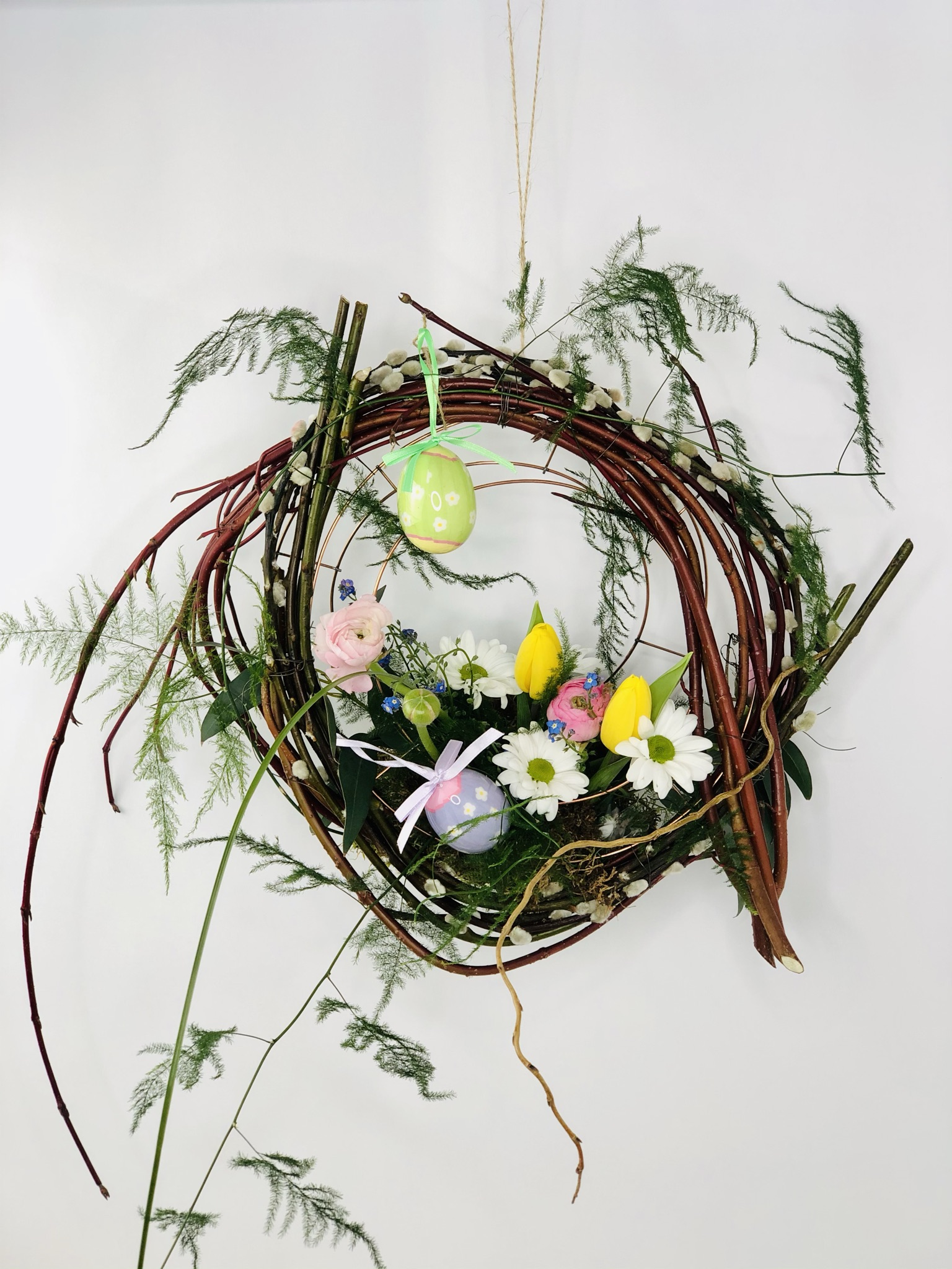 Learn how to make an Easter Door Wreath