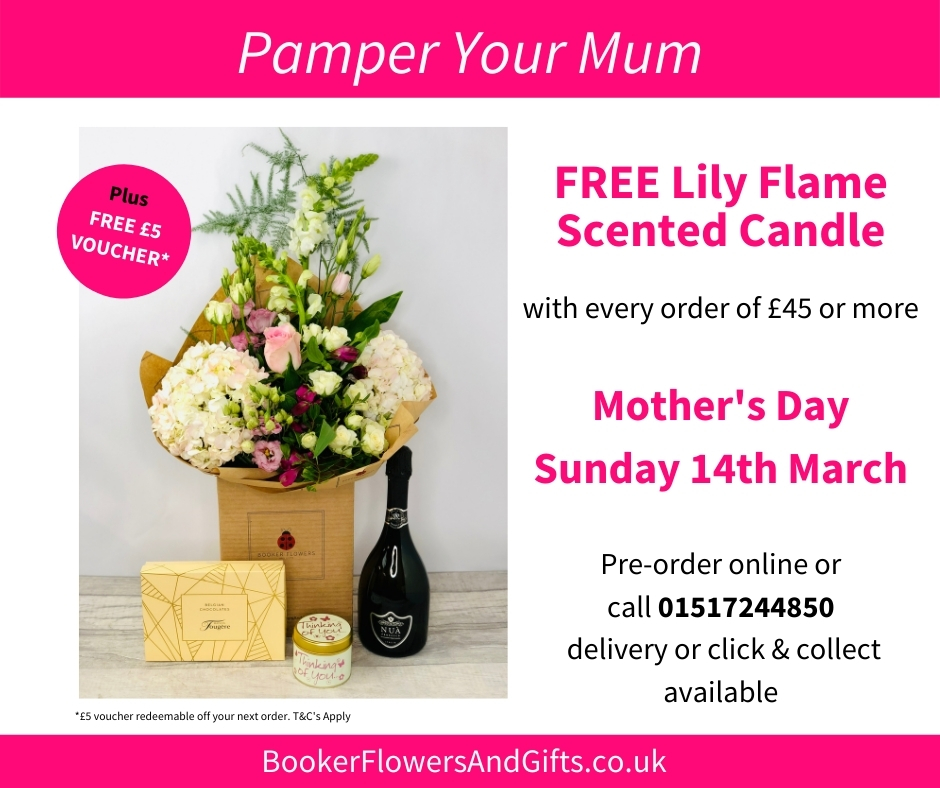 Mothers Day Special Offer - Free Lily Flame Scented Candle