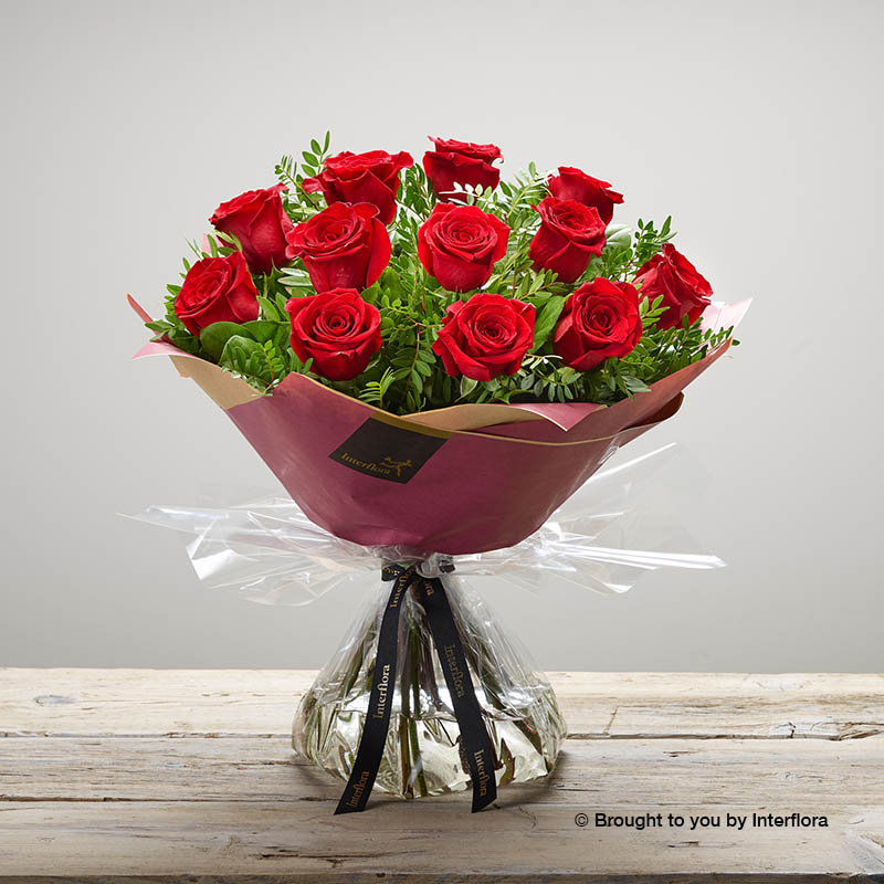 Dozen Red Roses for Valentine's Day from Booker Flowers and Gifts