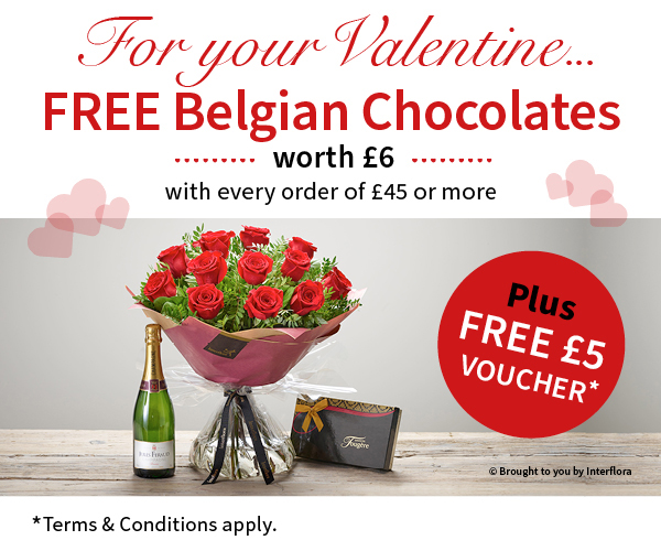 Booker Flowers and Gifts Valentine's Special Offer