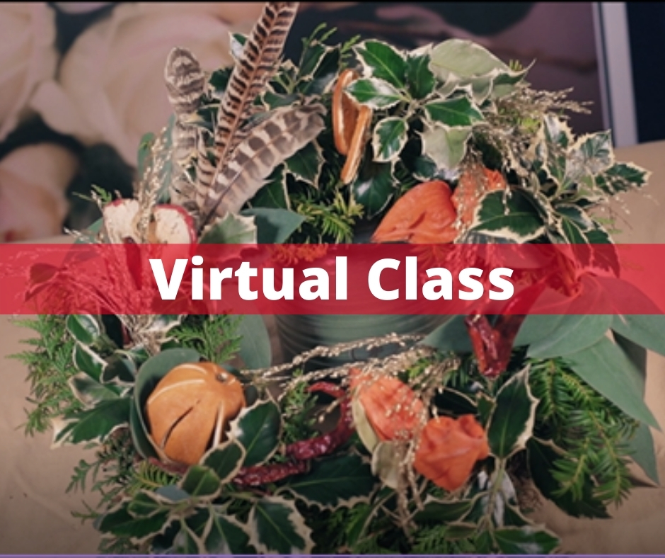 Virtual Online Class to make a Christmas Door Wreath