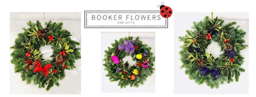 Christmas Door Wreaths from Booker Flowers and Gifts