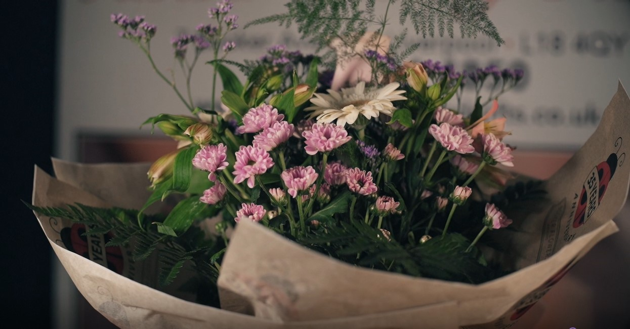 Learn how to make a Handtied Bouquet with Seasonal Flowers, from Booker Flowers